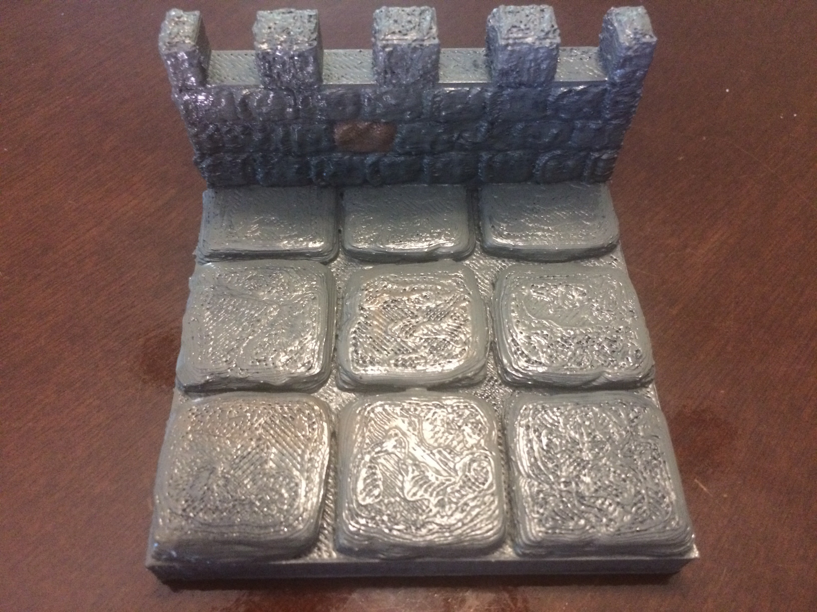 picture relating to 3d Printable Dungeon Tiles named Dungeon Tile 3X3 with Wall